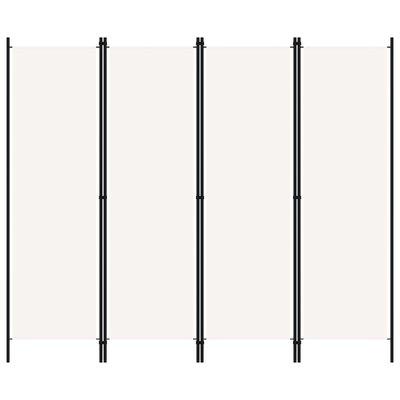 Kamerscherm met 4 panelen 200x180 cm wit