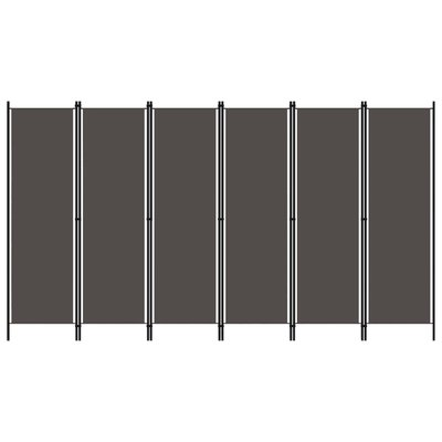 Kamerscherm met 6 panelen 300x180 cm antraciet