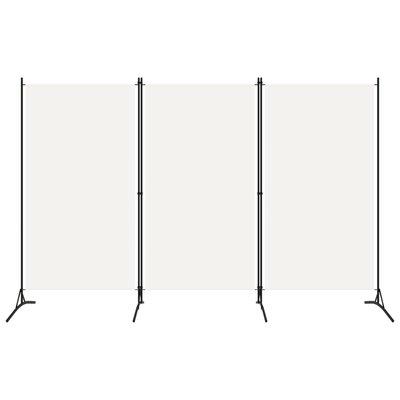 Kamerscherm met 3 panelen 260x180 cm wit