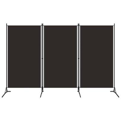 Kamerscherm met 3 panelen 260x180 cm bruin
