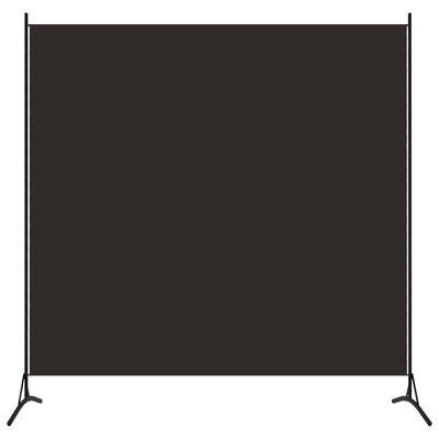 Kamerscherm met 1 paneel 175x180 cm bruin