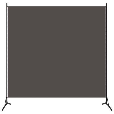 Kamerscherm met 1 paneel 175x180 cm antraciet