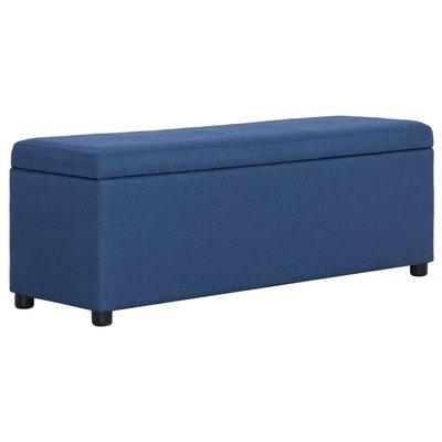 Bankje met opbergvak 116 cm polyester blauw