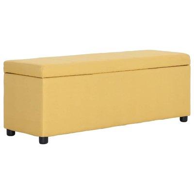 Bankje met opbergvak 116 cm polyester geel