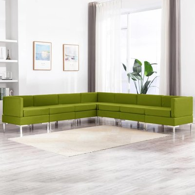 7-delig Bankstel stof groen