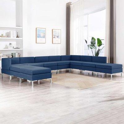 10-delig Bankstel stof blauw