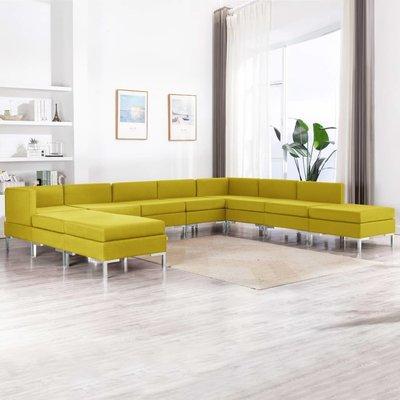 10-delig Bankstel stof geel