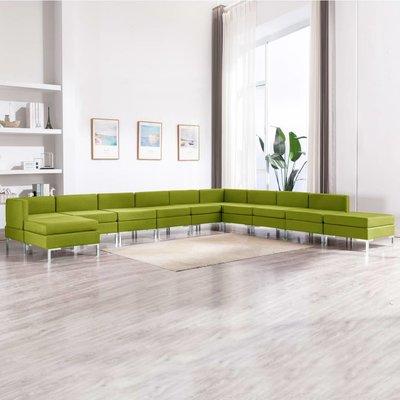 11-delig Bankstel stof groen