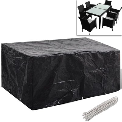 Tuinmeubelhoes voor 6-persoons poly rattan set 10 oogjes 240x140 cm