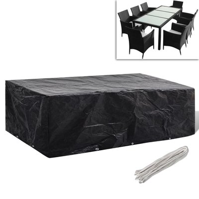 Tuinmeubelhoes voor 8-persoons poly rattan set 10 oogjes 300 x 140 cm