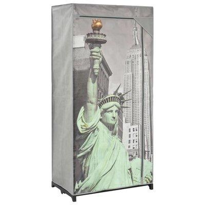 Kledingkast New York 75x45x160 cm stof