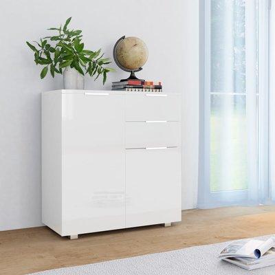 Dressoir 71x35x76 cm spaanplaat hoogglans wit