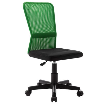 Kantoorstoel 44x52x100 cm mesh stof zwart en groen
