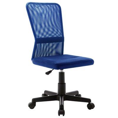Kantoorstoel 44x52x100 cm mesh stof blauw