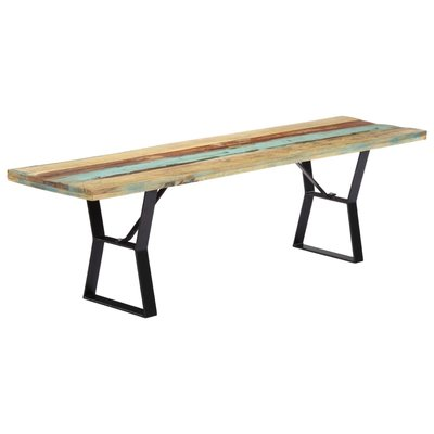 Bankje 160 cm massief gerecycled hout