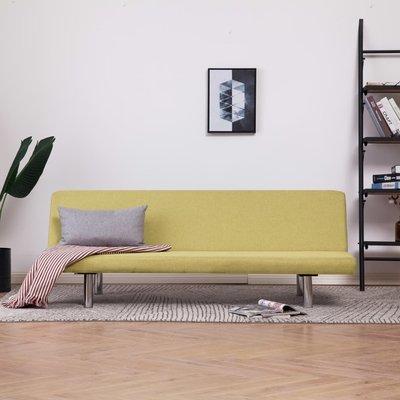 Slaapbank polyester groen