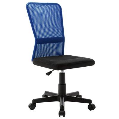 Kantoorstoel 44x52x100 cm mesh stof zwart en blauw