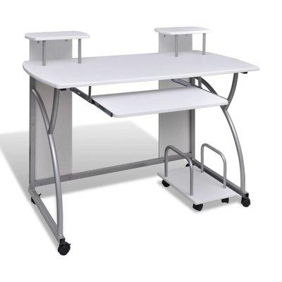 Studenten computer bureau 120 x 60 cm (wit)
