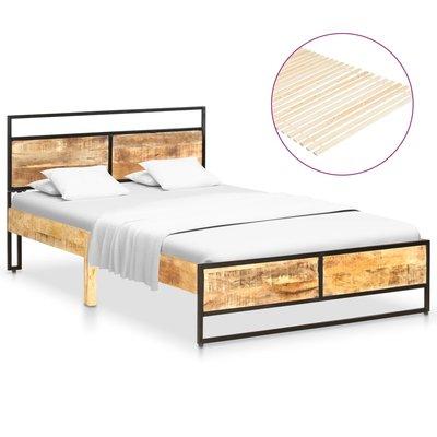 Bedframe massief mangohout en grenenhout 120x200 cm