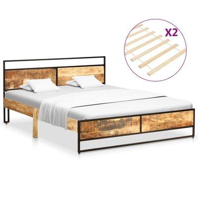 Bedframe massief mangohout en grenenhout 160x200 cm