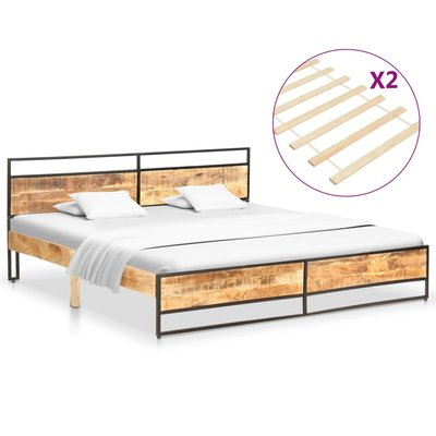 Bedframe massief mangohout en grenenhout 180x200 cm