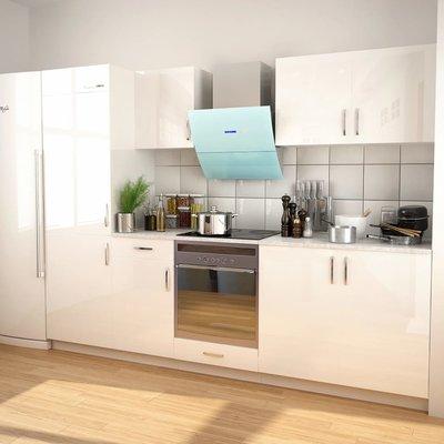 Keukenkastenset met afzuigkap 7-delig hoogglans wit