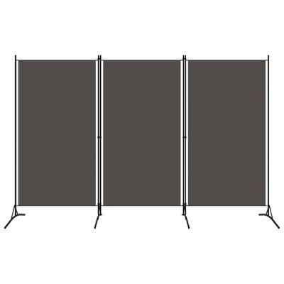 Kamerscherm met 3 panelen 260x180 cm antraciet