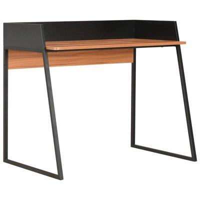 Bureau 90x60x88 cm zwart en bruin