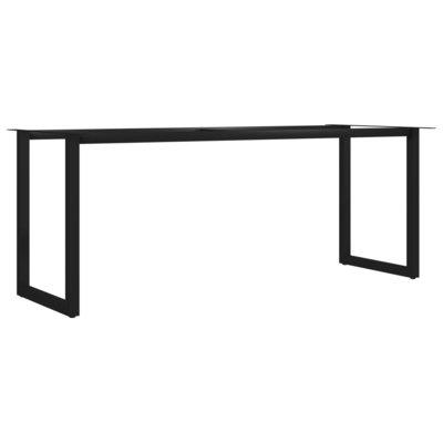 Eettafelpoot O-frame 200x80x72 cm