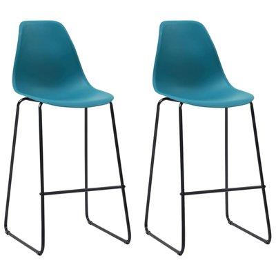 Barstoelen 2 st kunststof turquoise