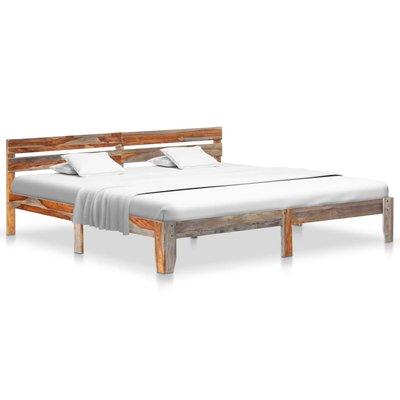 Bedframe massief sheeshamhout 200x200 cm