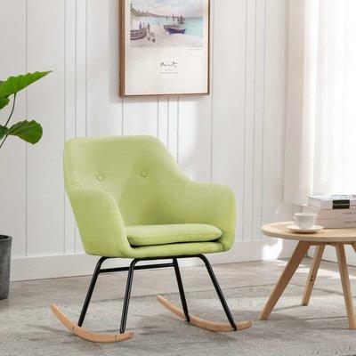 Schommelstoel stof groen