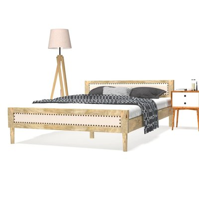 Bedframe massief mangohout 140x200 cm