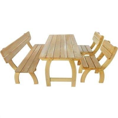 4-delige Tuinset geïmpregneerd grenenhout