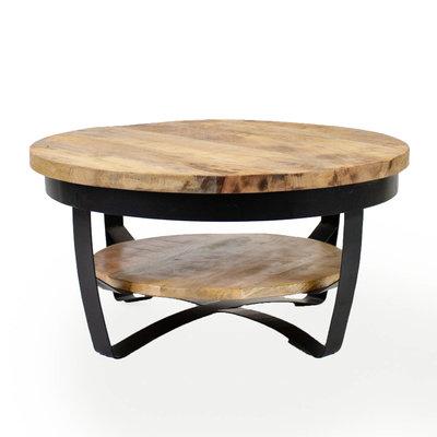 Salontafel Balder hout 90x43 cm massief mangohout