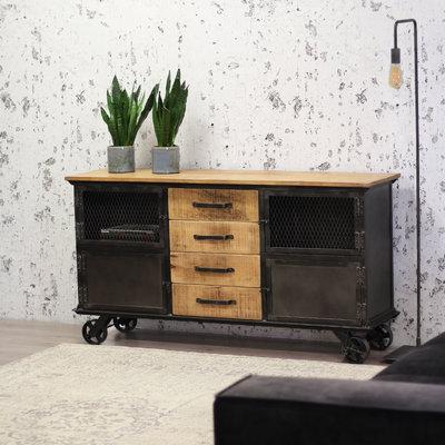 Dressoir Florence 153x40x80 cm massief mangohout