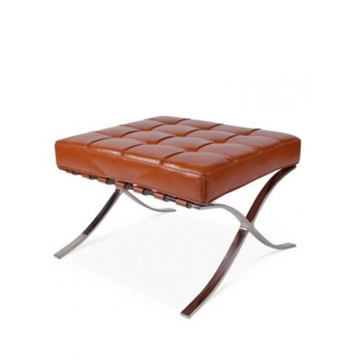 Barcelona Hocker Splitleder Cognac