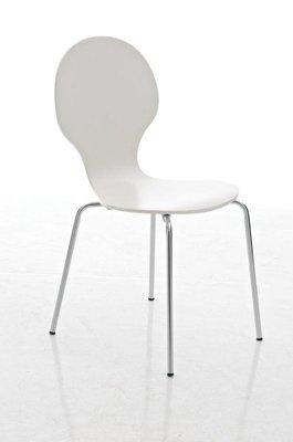 Bezoekersstoel Doegi Wit