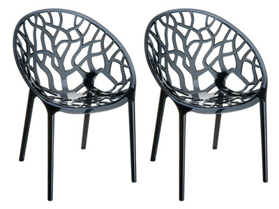 2er SET stapelstoel Crastil Zwart