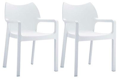 2er SET stapelstoel Davi Wit