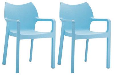 2er SET stapelstoel Davi Blauww