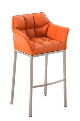 Barkruk Damaso Kunstleer Oranje,Metaal