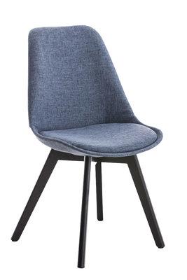 Bezoekersstoel Birnii Stof Blauw,Zwart
