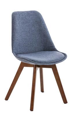 Bezoekersstoel Birnii Stof Blauw,walnuss