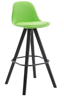 Barkruk Frinklan Volledig Bekleed Kunstleder vierkant frame Groen,Zwart (eiche)