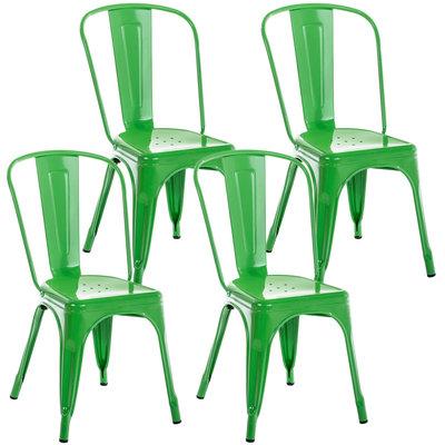 Set van 4 Binedekt stoelen Groen