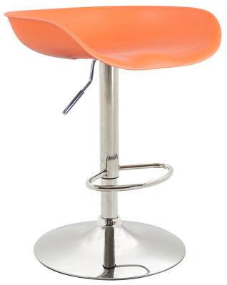 Barkruk Inehaam Kunststof Oranje,Chroom