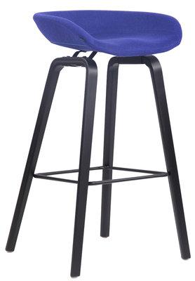 Barkruk Inehaam vilt Blauw,Zwart (eiche)