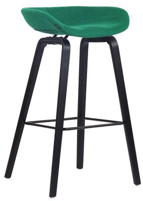 Barkruk Inehaam vilt Groen,Zwart (eiche)