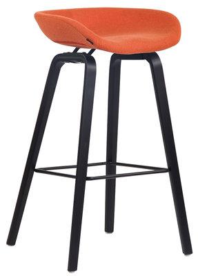 Barkruk Inehaam vilt Oranje,Zwart (eiche)